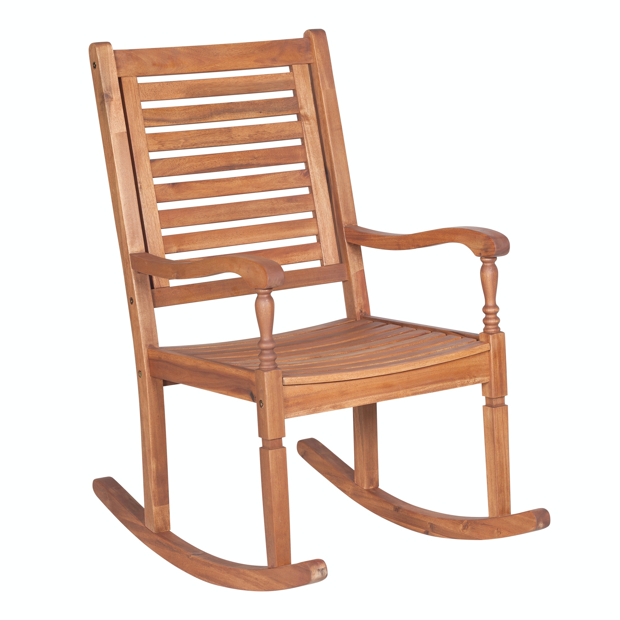 Ft Myers Solid Acacia Wood Rocking Patio Chair WEDOWRCBR From Walter E.  Smithe Furniture +