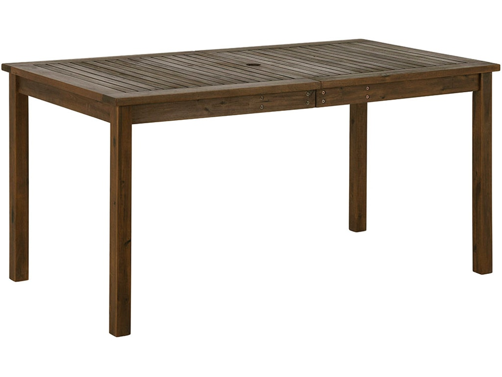 Ft Myers OutdoorPatio 60\'\' Outdoor Modern Acacia Wood Patio Simple Dining  Table WEDOWSDTDB Walter E. Smithe Furniture + Design