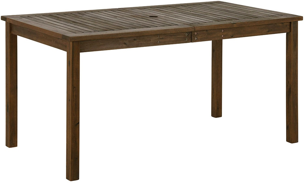 60 Outdoor Modern Acacia Wood Patio Simple Dining Table