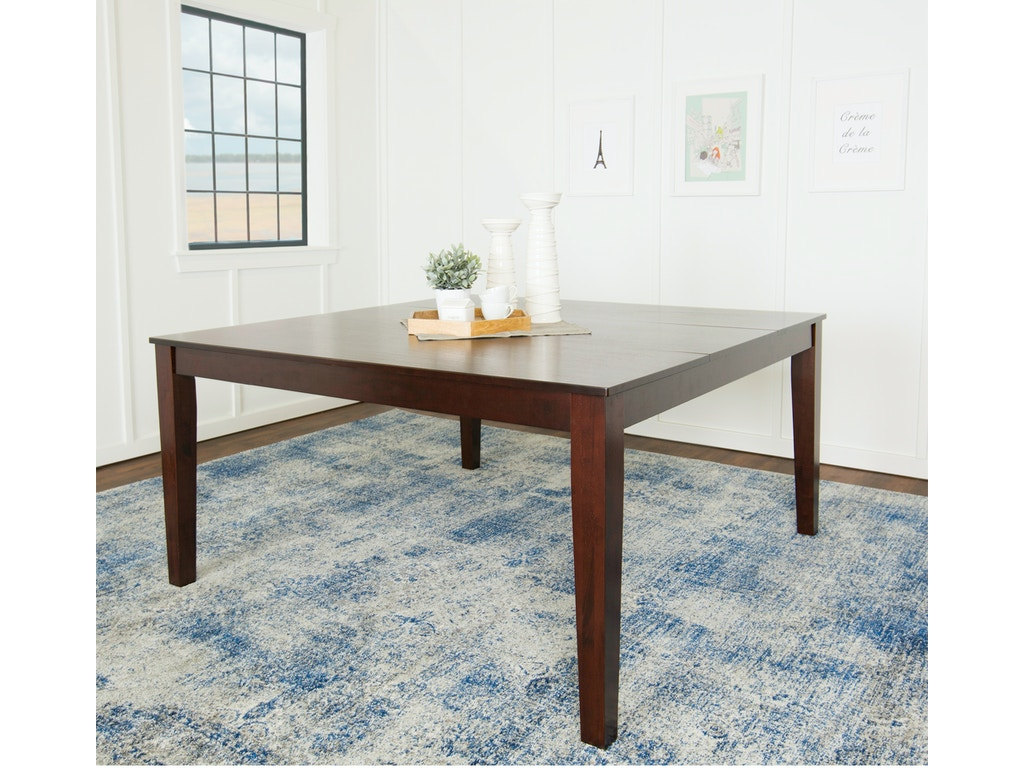 Ft Myers Dining Room 60 Wood Square Dining Table Wedtw60sqcno Walter E Smithe Furniture Design