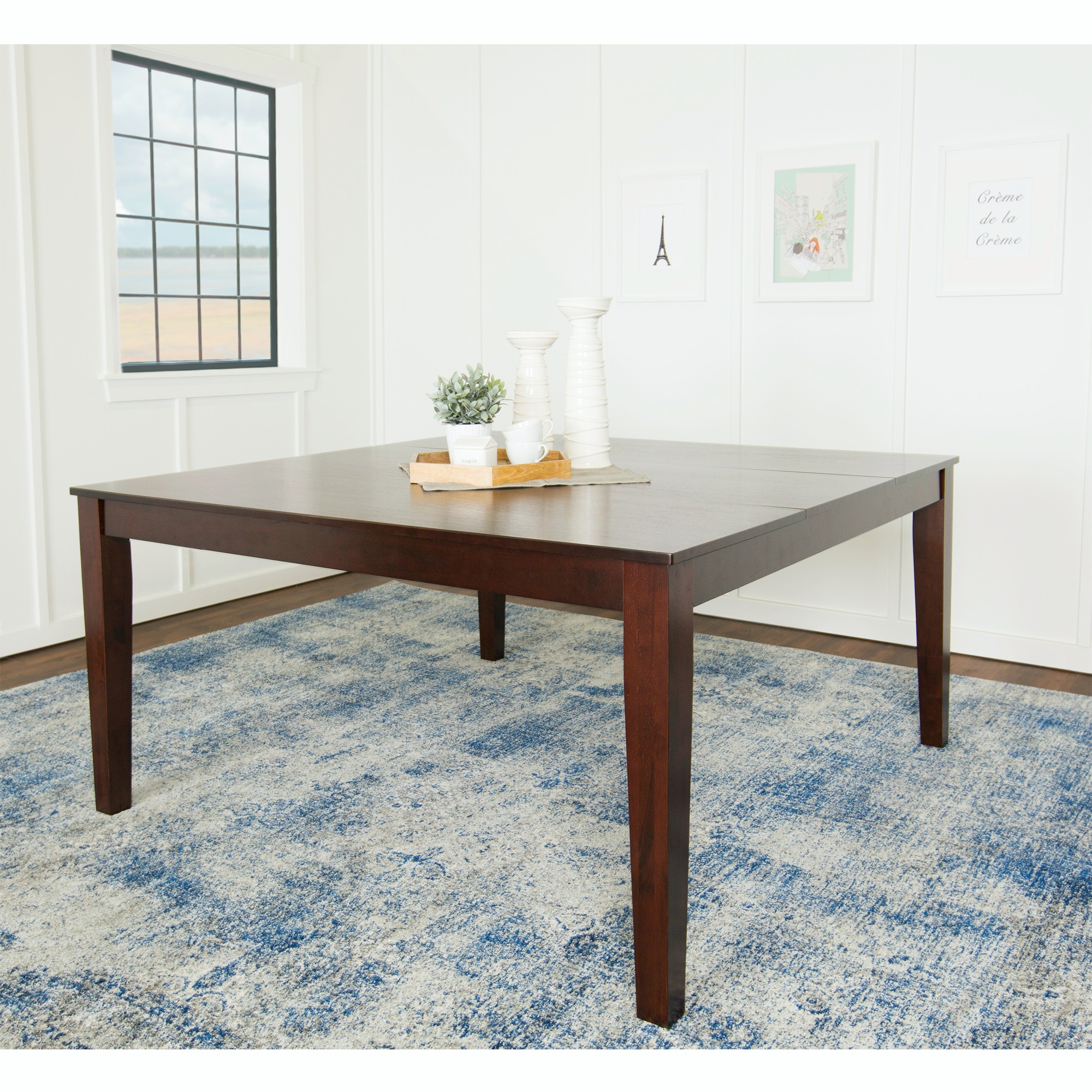 Ft Myers 60u0027u0027 Wood Square Dining Table WEDTW60SQCNO From Walter E. Smithe  Furniture