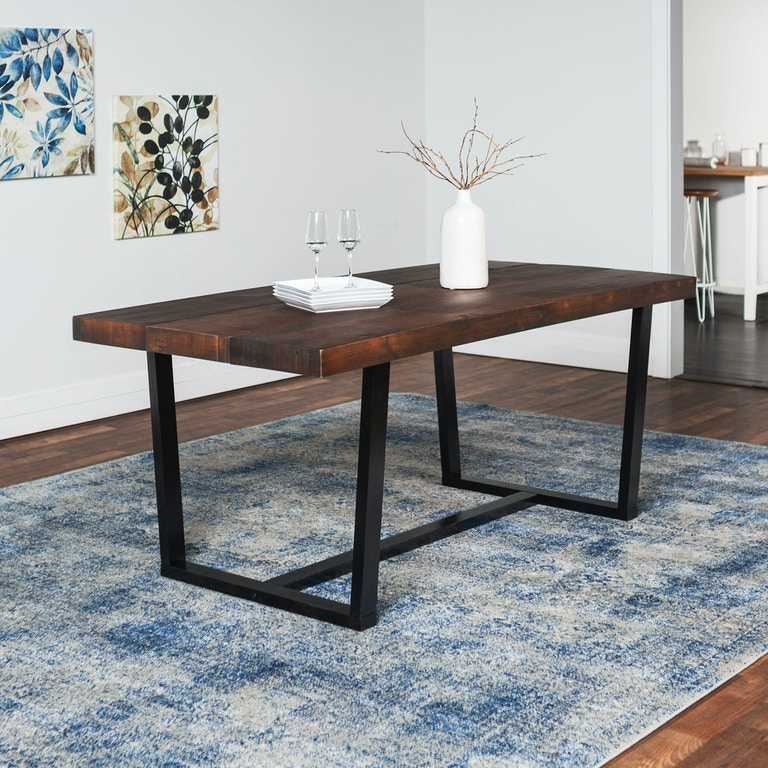 Ft Myers 72 Rustic Urban Farmhouse Distressed Solid Wood Dining Table Wedtw72dswma From