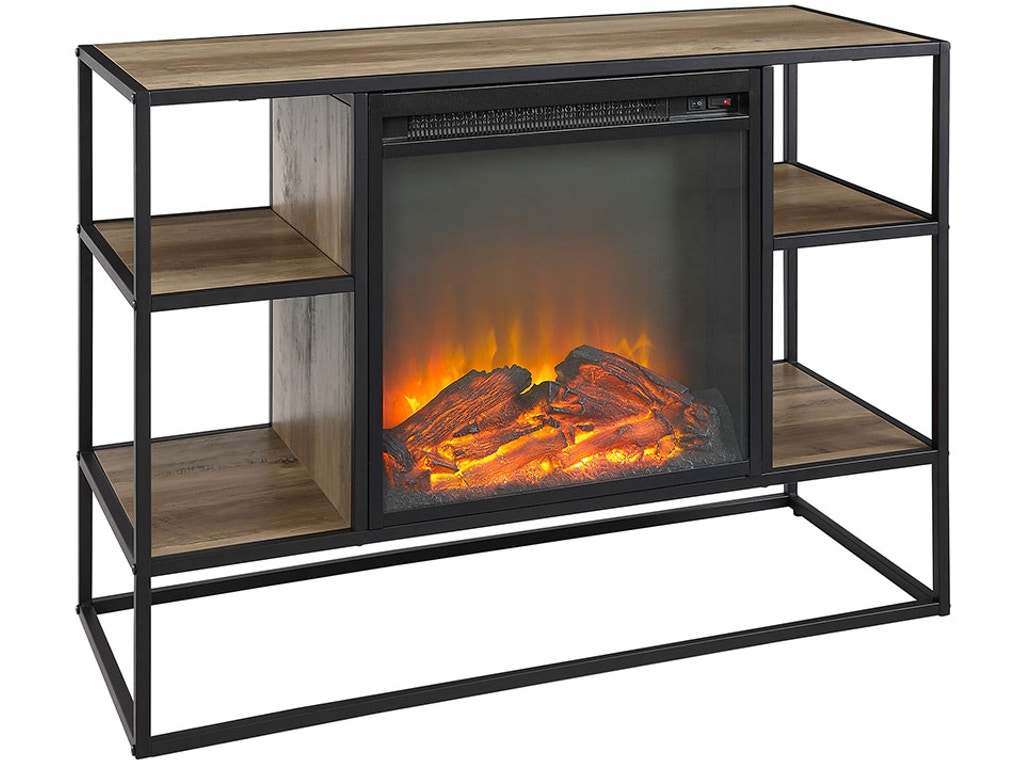 Swell Ft Myers Home Entertainment 40 Rustic Urban Industrial Metal And Wood Open Shelf Fireplace Tv Stand Storage Console Wedw40Fpjerro Walter E Smithe Home Interior And Landscaping Ologienasavecom