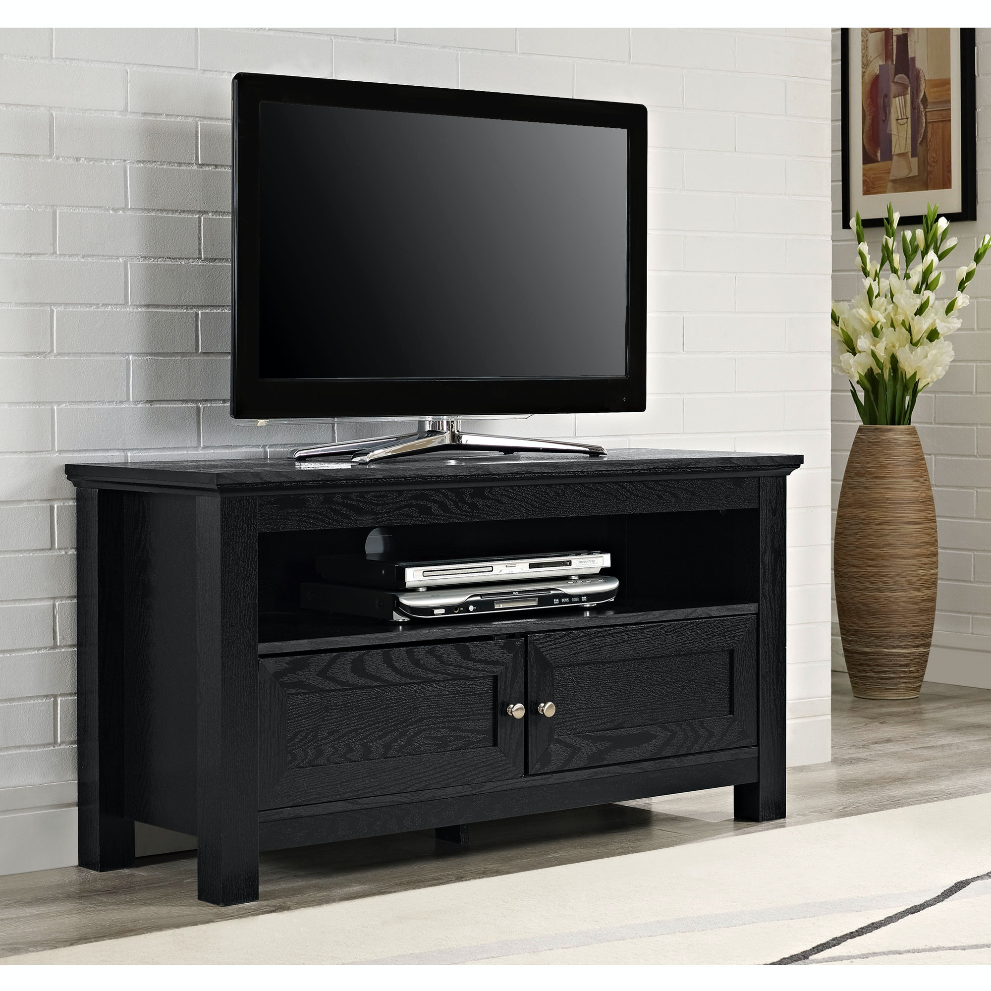 Ft Myers 44u0027u0027 Wood TV Stand Console WEDW44CSBL
