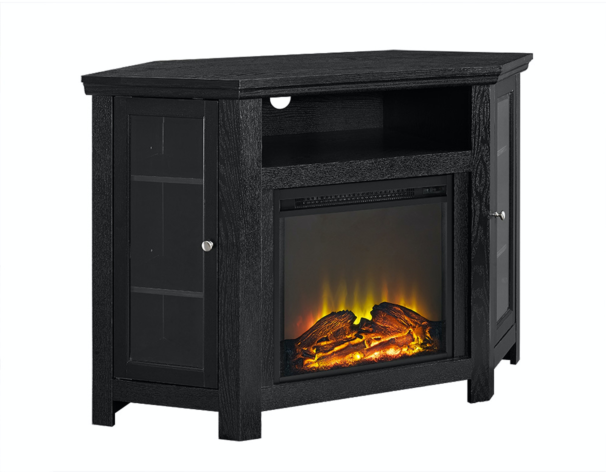 48 Corner Fireplace Tv Stand Wedw48fpcrbl