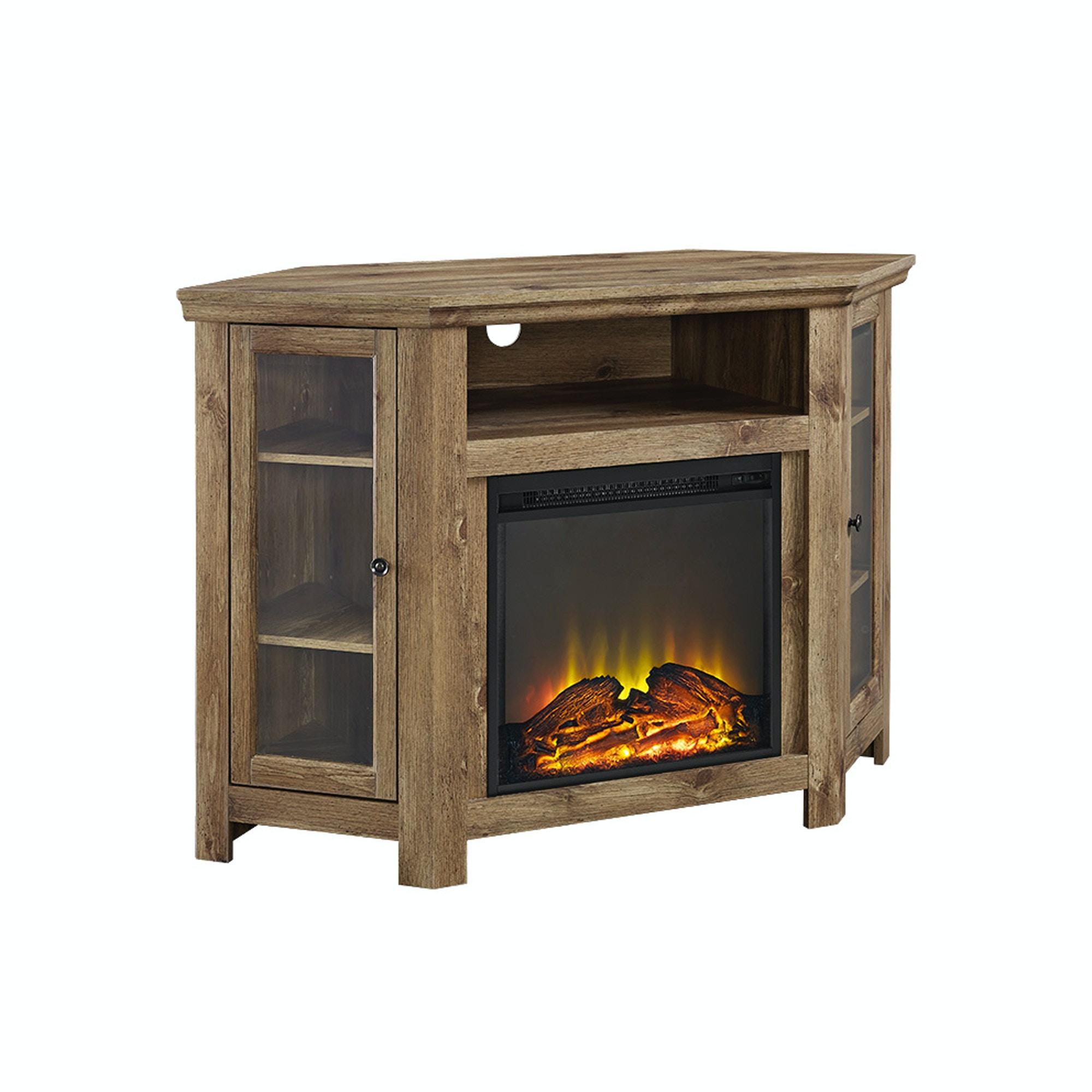 48 Corner Fireplace Tv Stand Wedw48fpcrbw