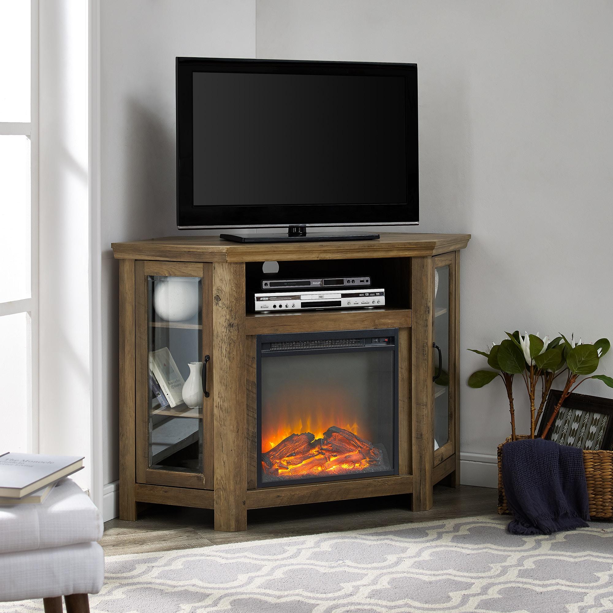 52 classic traditional wood corner fireplace media tv stand rh smithe com wood fireplace corner unit reclaimed wood corner fireplace