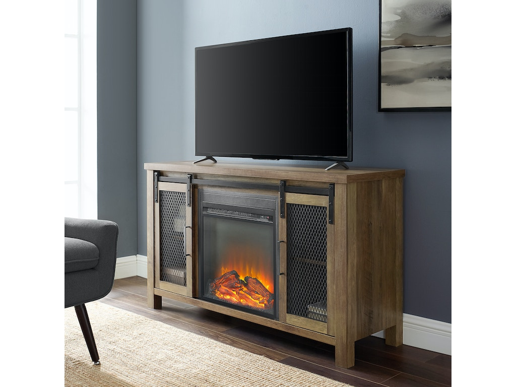 Peachy Ft Myers Home Entertainment 48 Rustic Farmhouse Fireplace Tv Stand W48Fpsmdro Walter E Smithe Furniture Design Download Free Architecture Designs Estepponolmadebymaigaardcom