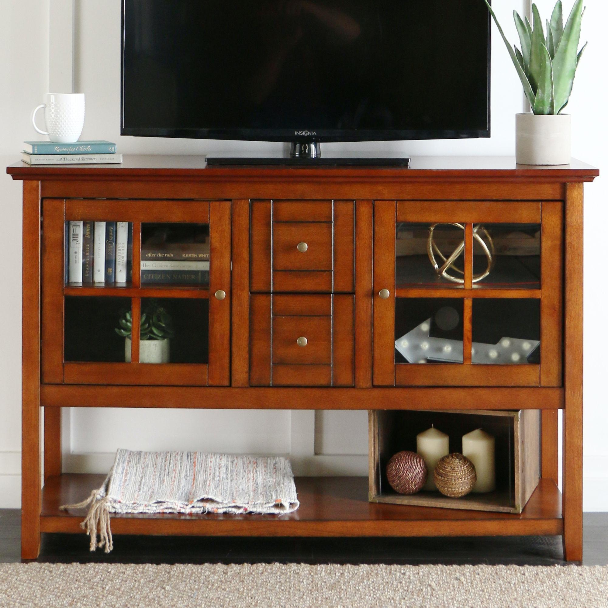 52u0027u0027 Wood Console Table TV Stand