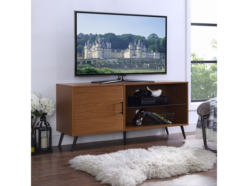 sale retailer 0cd41 158ab Ft Myers Home Entertainment 52'' Mid Century Modern TV Stand Media Storage  Console Entertainment Center with Black Legs WEDW52NORGSPC Walter E. Smithe  ...