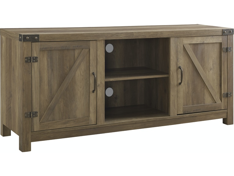 Ft Myers 58 Rustic Modern Farmhouse Barn Door Tv Stand Storage Console Entertainment Center With