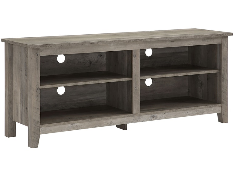 Ft Myers 58 Traditional Rustic Farmhouse Wood Tv Media Stand Storage Console Grey Wash