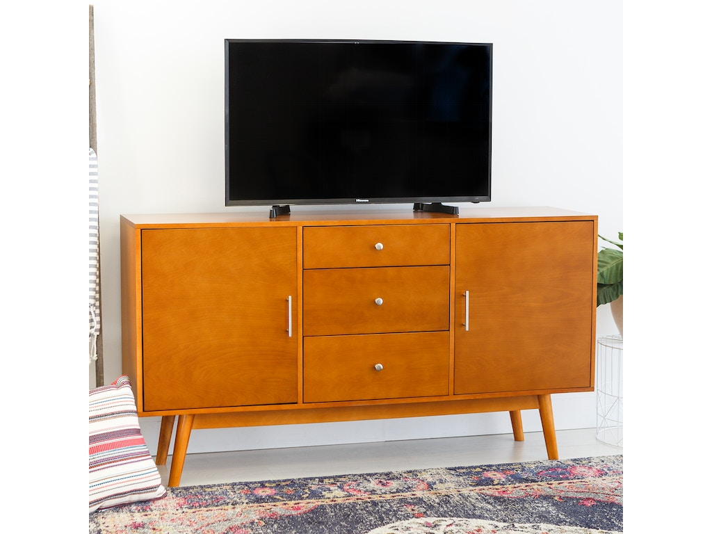 info for ee75f f81e0 Ft Myers Home Entertainment 60'' Mid-Century Modern Wood TV Console  WEDW60CMCAC Walter E. Smithe Furniture + Design