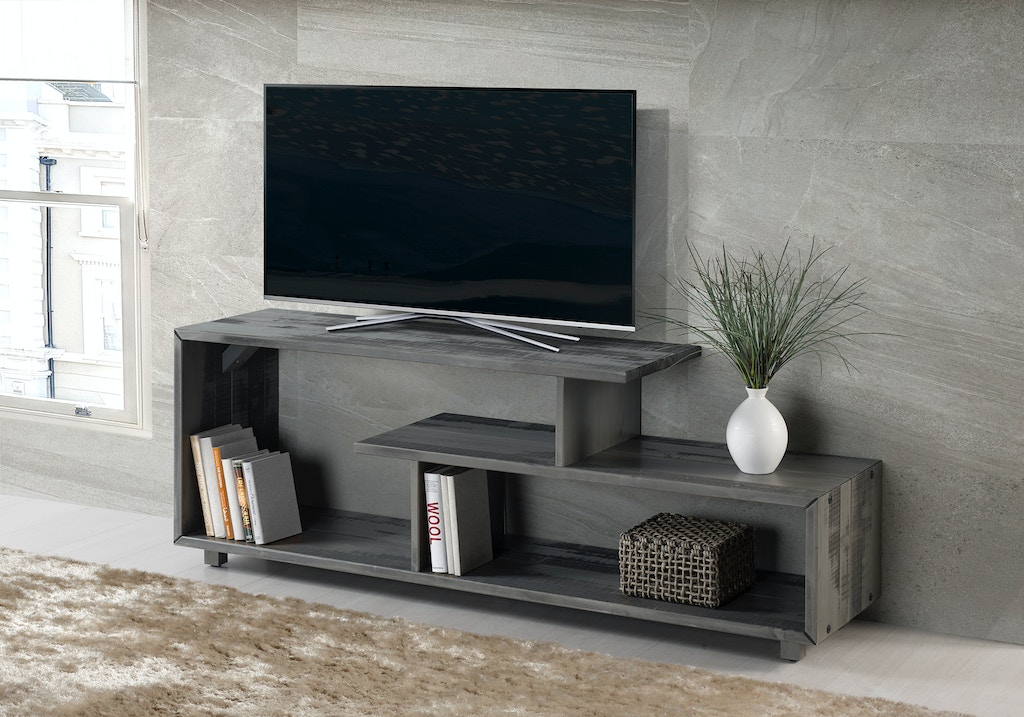 Ft Myers Home Entertainment 60 Rustic Modern Solid Wood Tv Stand Console Entertainment Center Gray Wedw60rswgy Walter E Smithe Furniture Design