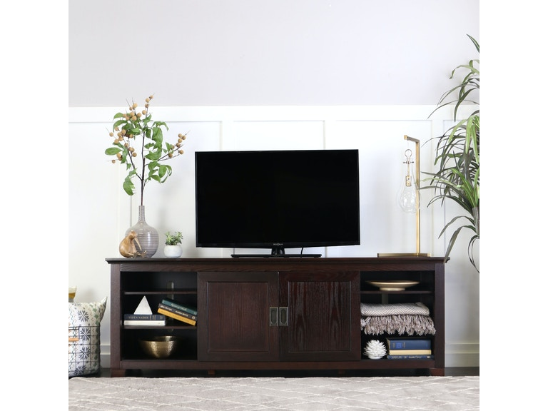 70 Wood Tv Stand With Sliding Doors