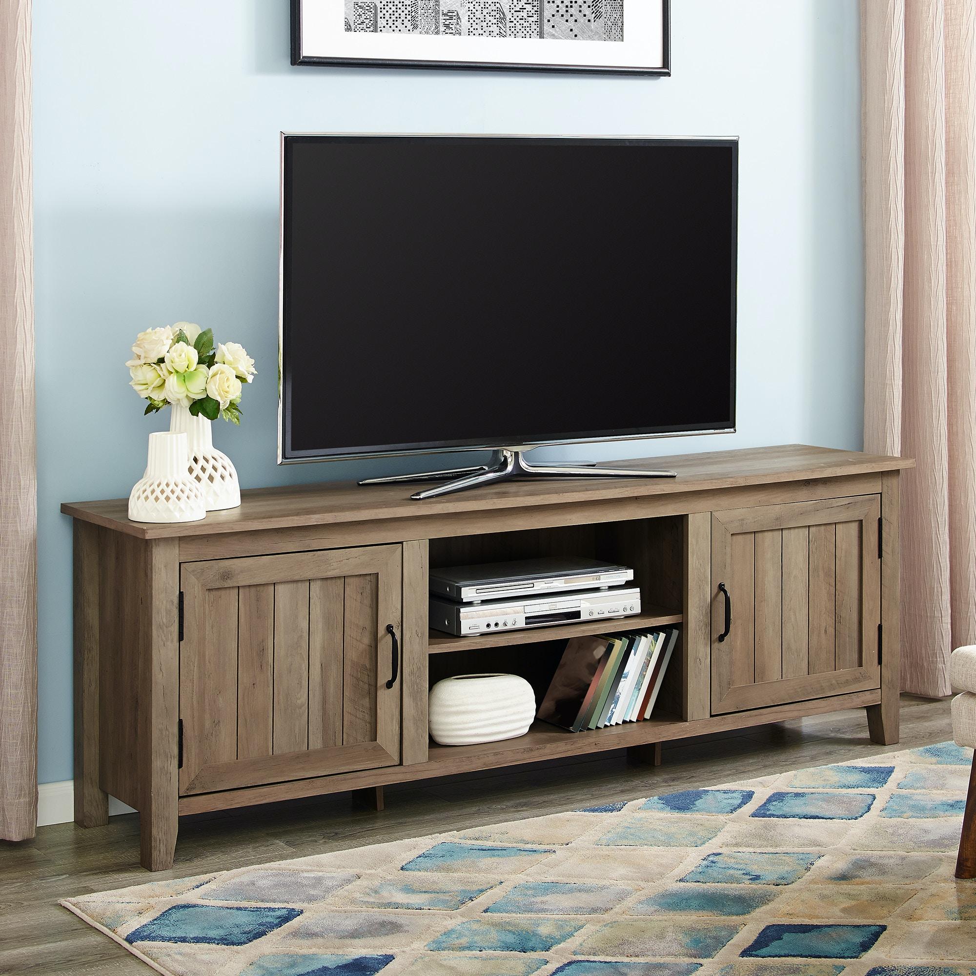 70 Modern Farmhouse Entertainment Center Tv Stand Storage Console