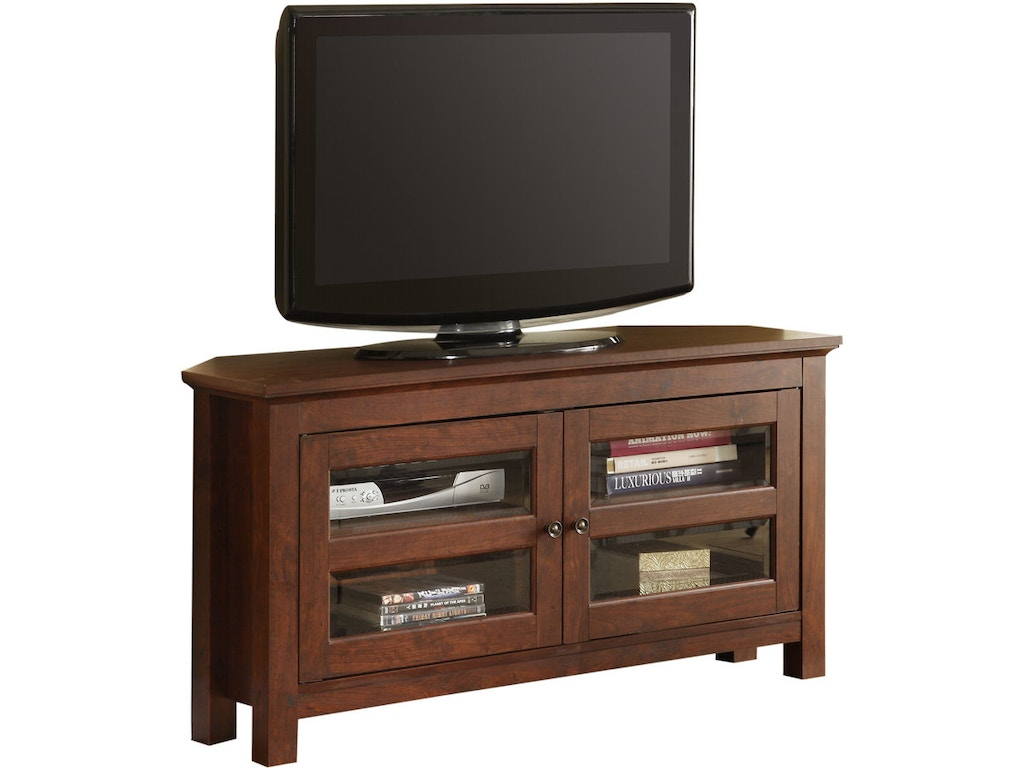 new style f63ed 9d579 Ft Myers Home Entertainment 44'' Wood Corner TV Stand Console WEDWQ44CCRTB  Walter E. Smithe Furniture + Design