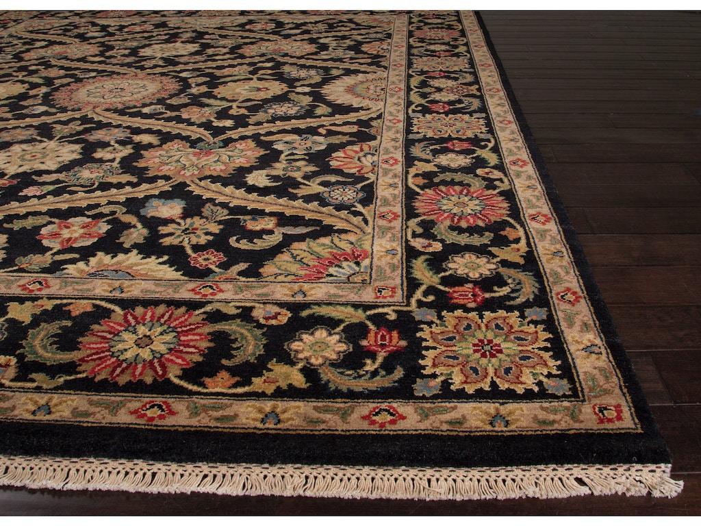 Floor Coverings Jaipur Hand Knotted Oriental Pattern Black