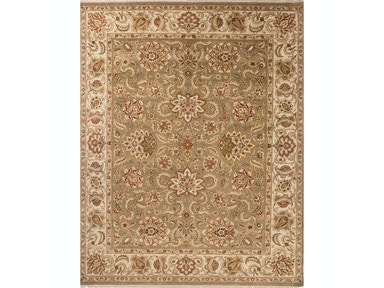 Jaipur Rugs Jaipur Hand-Knotted Oriental Pattern Green/Yellows & Gold wool Area Rug AL21