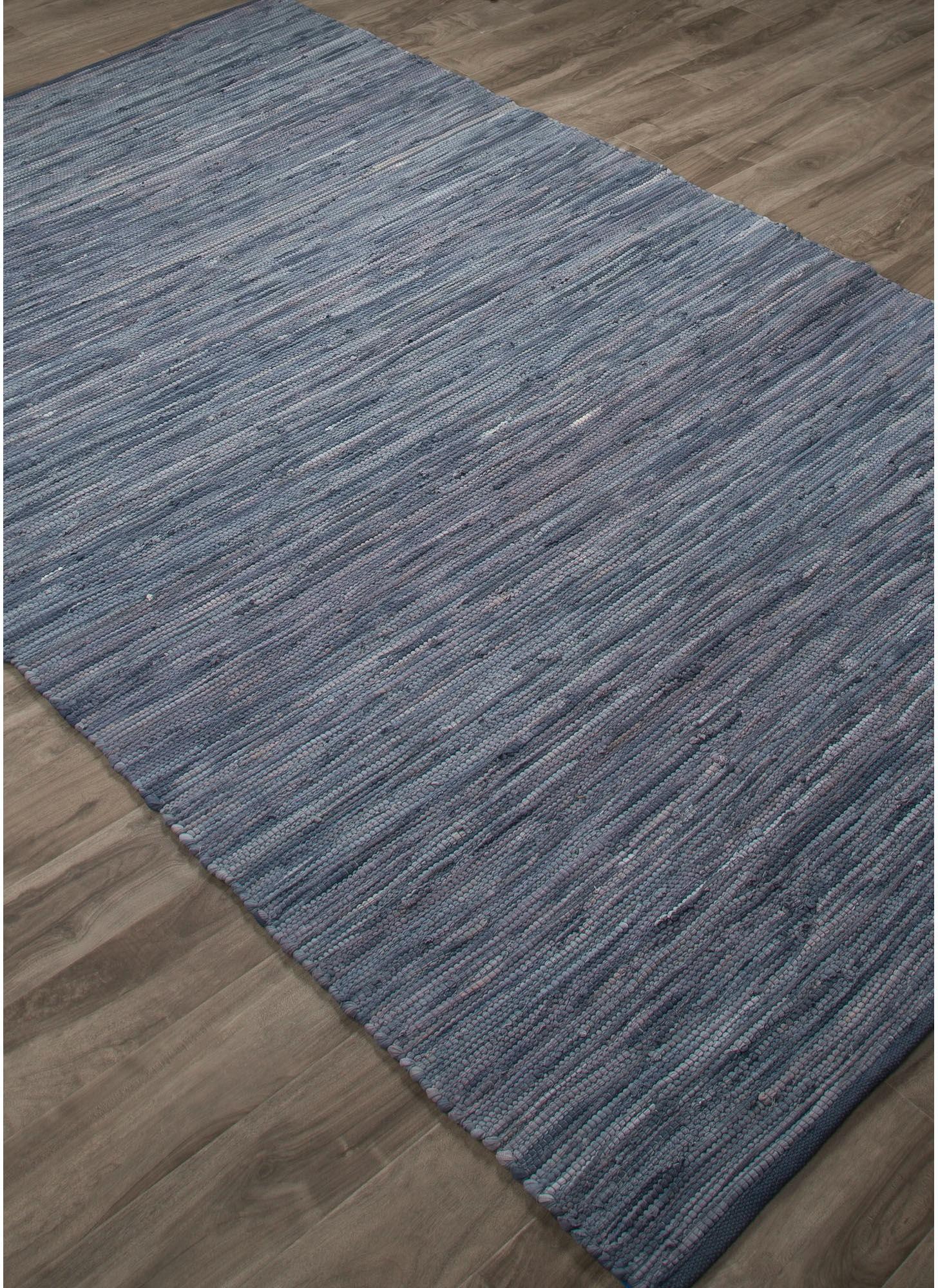 Jaipur Rugs Floor Coverings Jaipur Solids Handloom Solid Pattern Blue Cotton Area Rug Ann04