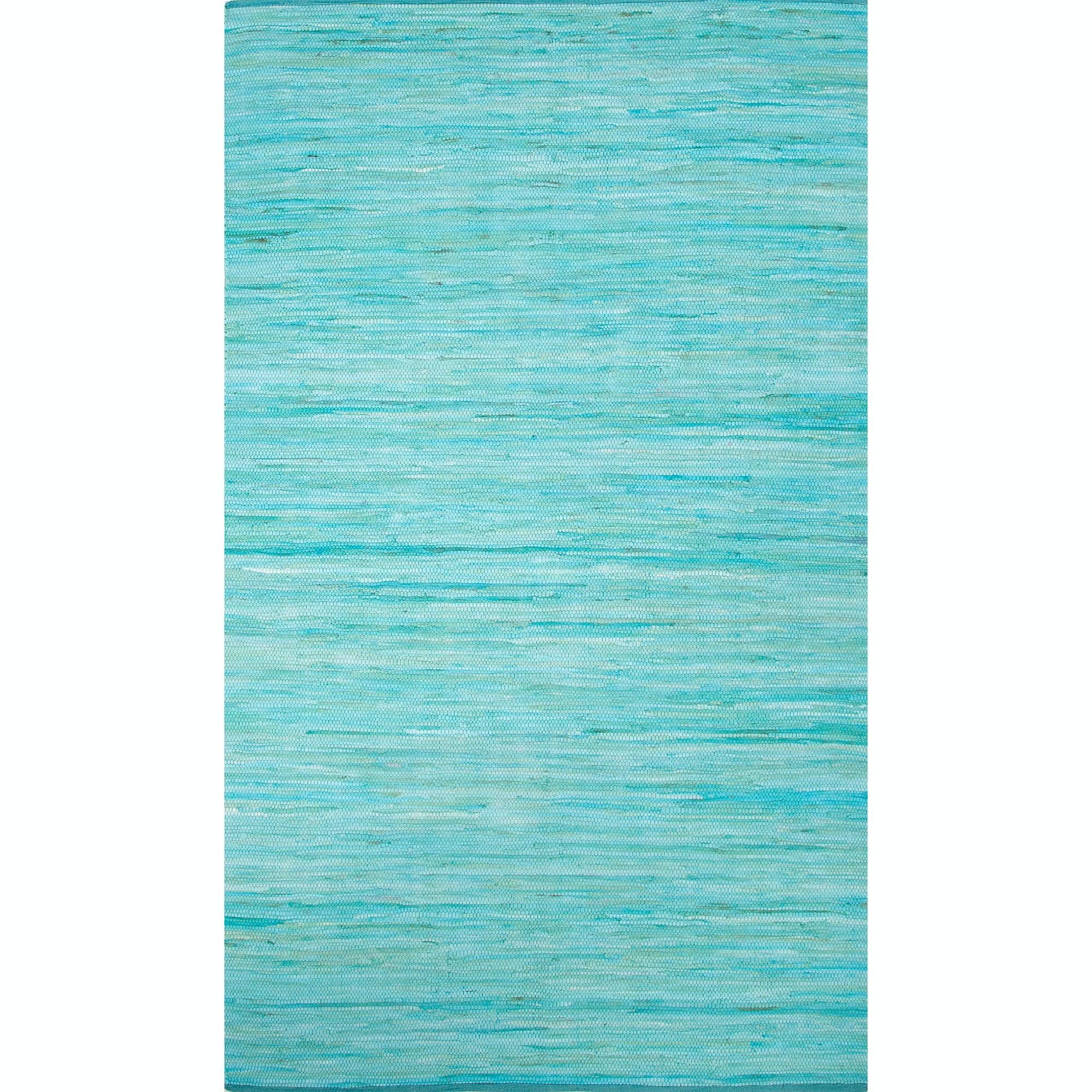 Jaipur Rugs Floor Coverings Jaipur Solids/ Handloom Solid Pattern Blue/Bleue Cotton Area Rug ...