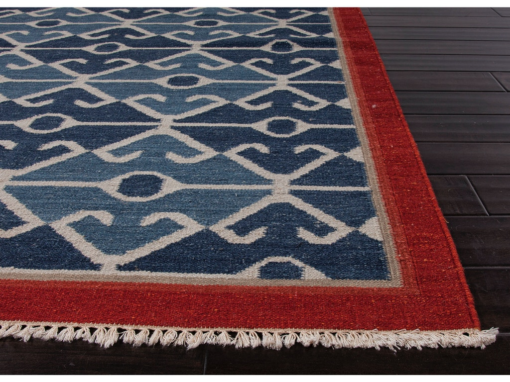 Jaipur rugs floor coverings flat weave tribal pattern wool for Red and blue area rug