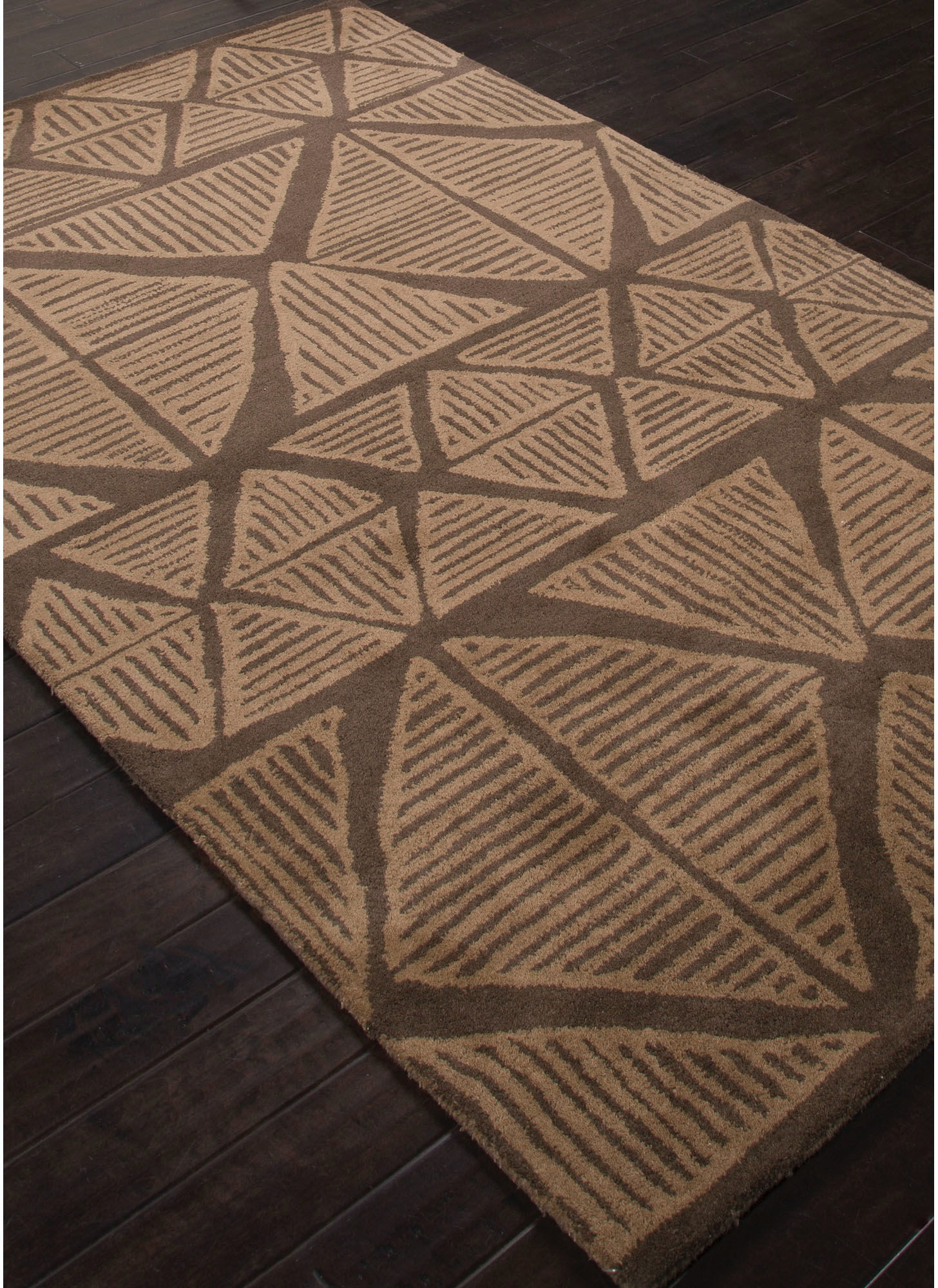 jaipur rugs floor coverings jaipur hand-tufted tribal pattern brown 8x11 Area Rugs