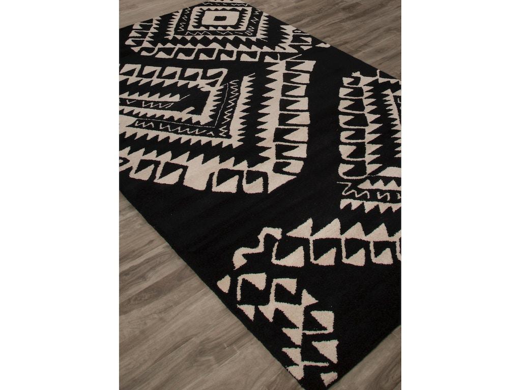 Jaipur rugs floor coverings jaipur hand tufted geometric for Black and white wool rug