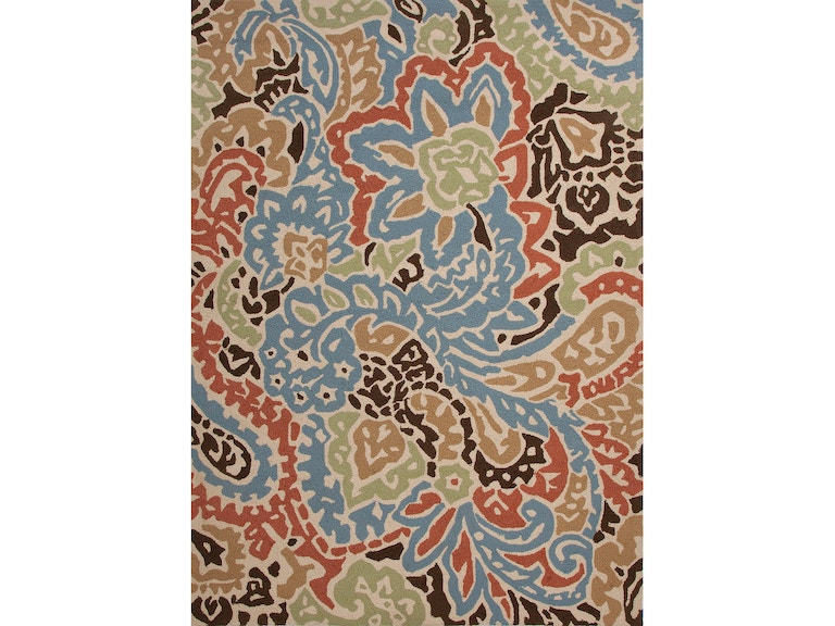 Jaipur Rugs Indoor Outdoor Abstract Pattern Polypropylene Blue Red Area Rug 9x12