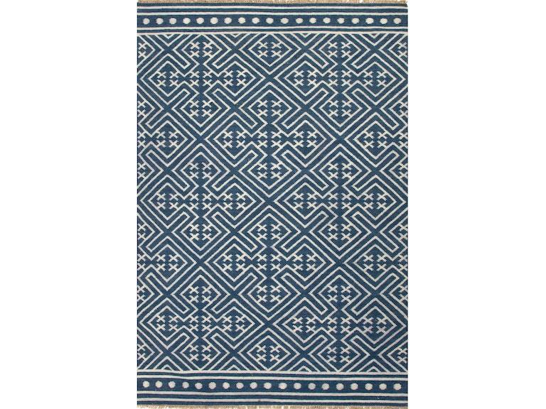 Jaipur Rugs Floor Coverings Flat Weave Tribal Pattern Wool Blue Red Area Rug 4x6 Rug100181 At Carol House Furniture