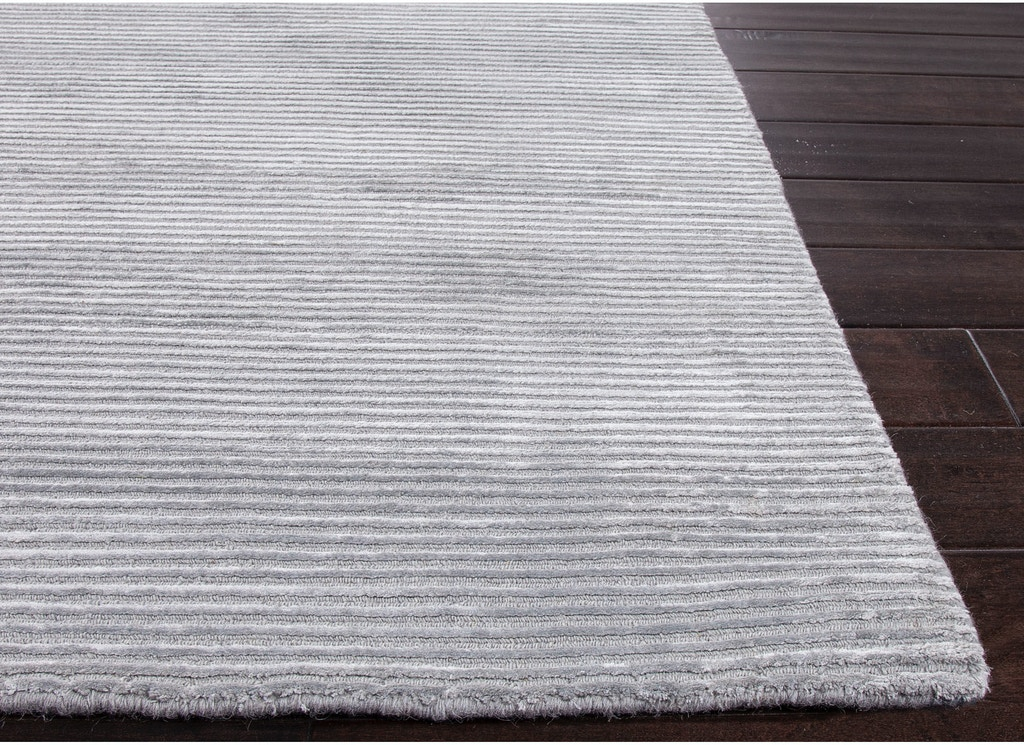 Jaipur Rugs Solids Handloom Solid Pattern Wool Art Silk Blue Gray Area Rug