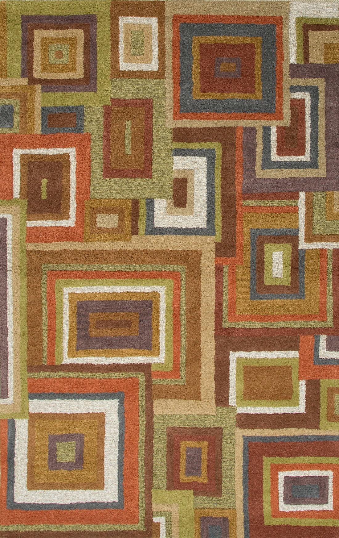 Jaipur Rugs Floor Coverings Hand Tufted Durable Wool Red Green Area