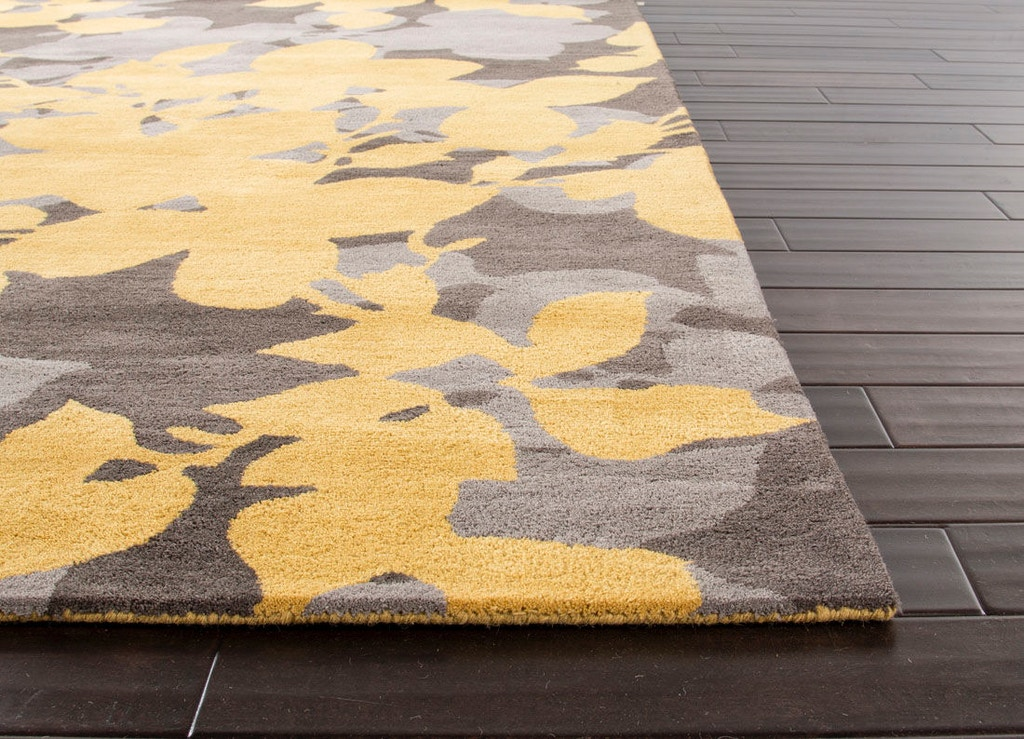 Jaipur Rugs Hand Tufted Fl Pattern Wool Yellow Gray Area Rug 3 6x5
