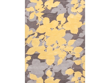 Jaipur Rugs Hand-Tufted Floral Pattern Wool Yellow/Gray Area Rug BL60
