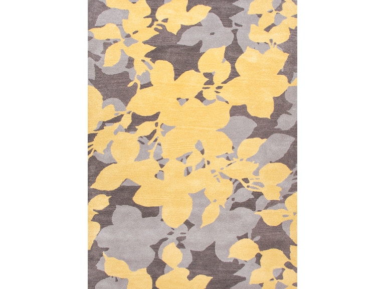 Jaipur Rugs Hand Tufted Fl Pattern Wool Yellow Gray Area Rug Bl60