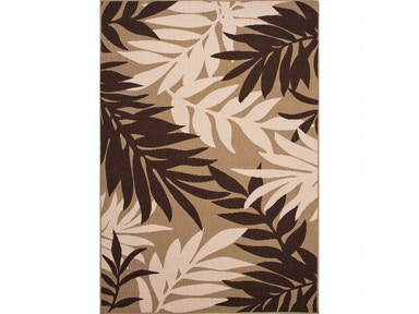 Jaipur Rugs Jaipur Indoor-Outdoor Floral Pattern Brown/Taupe & Tan Polypropylene Area Rug BLO02