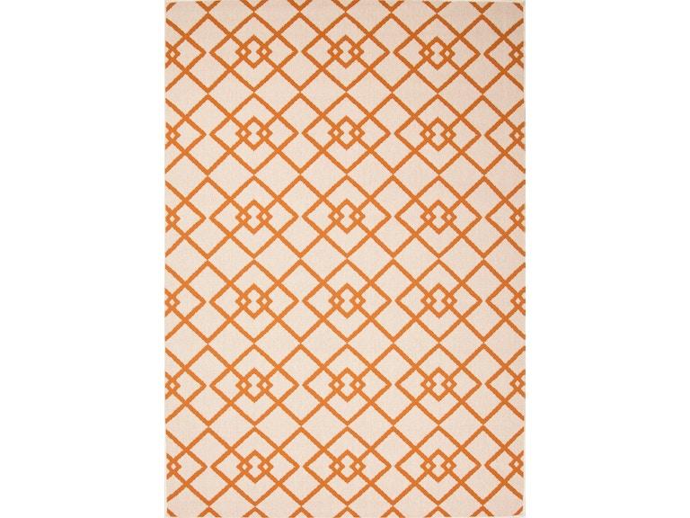Jaipur Rugs Indoor Outdoor Geometric Pattern Taupe Tan Orange Polypropylene Area Rug