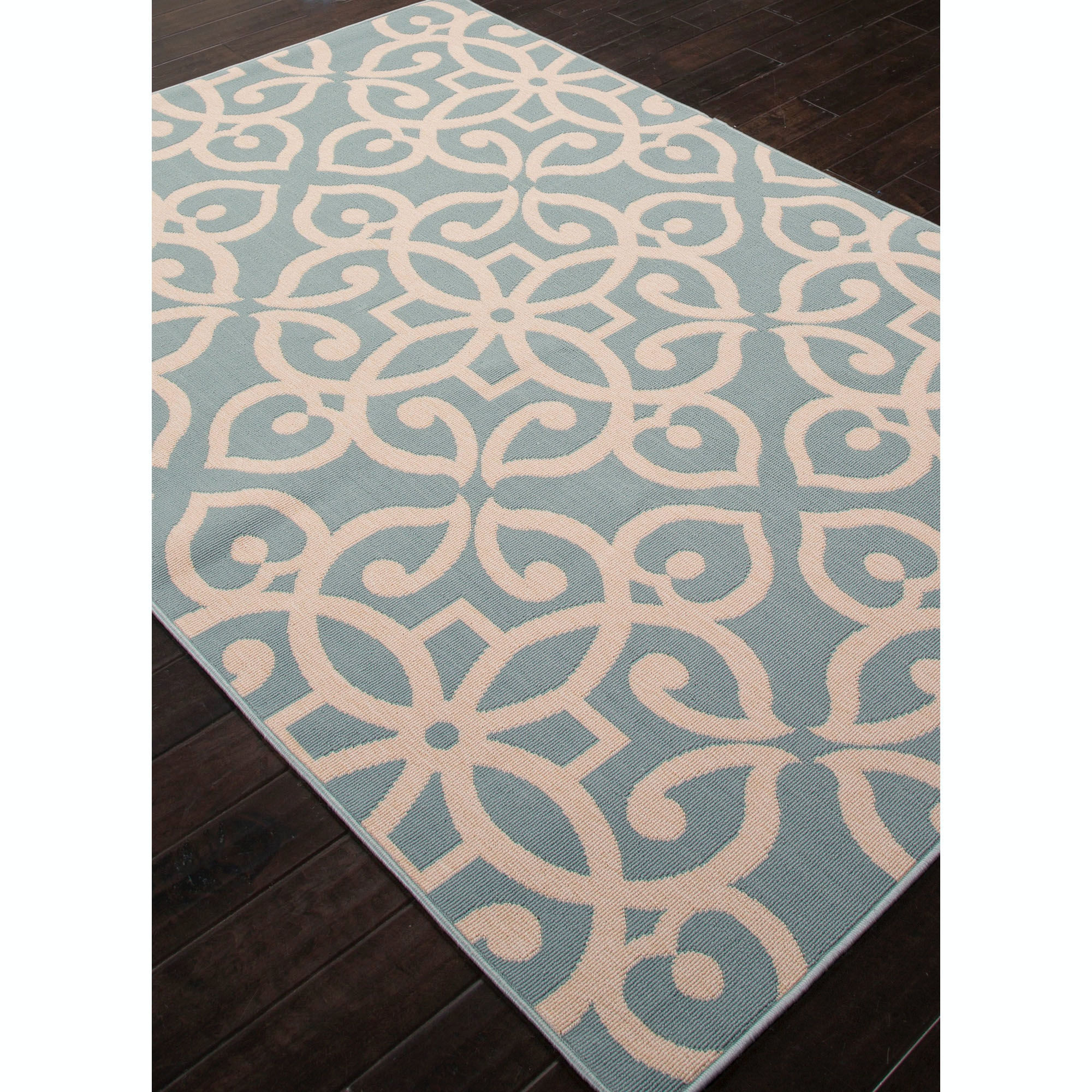 ... Jaipur Rugs Jaipur Indoor Outdoor Geometric Pattern Blue/Taupe U0026 Tan  Polypropylene Area Rug ...