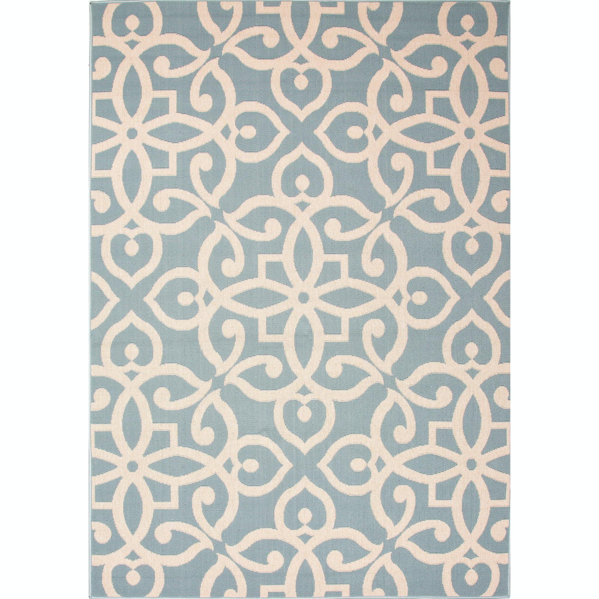 Jaipur Rugs Jaipur Indoor Outdoor Geometric Pattern Blue/Taupe U0026 Tan  Polypropylene Area Rug ...