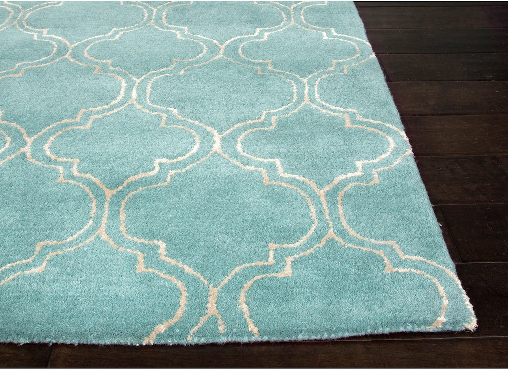 Jaipur Rugs Hand Tufted Durable Wool Art Silk Blue Ivory Area Rug