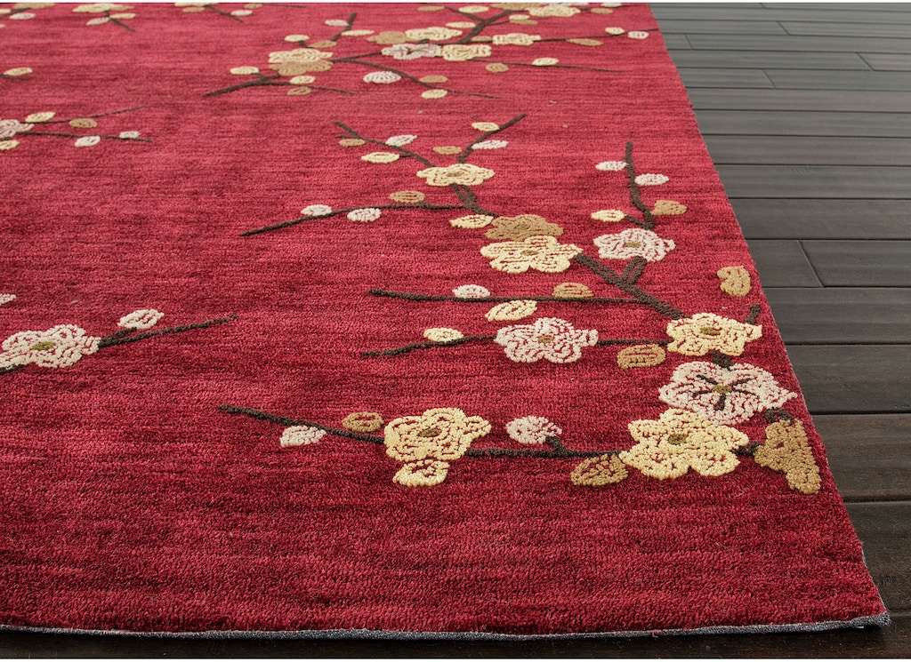 Jaipur Rugs Hand Tufted Fl Pattern Polyester Red Yellow Area Rug 3 6x5