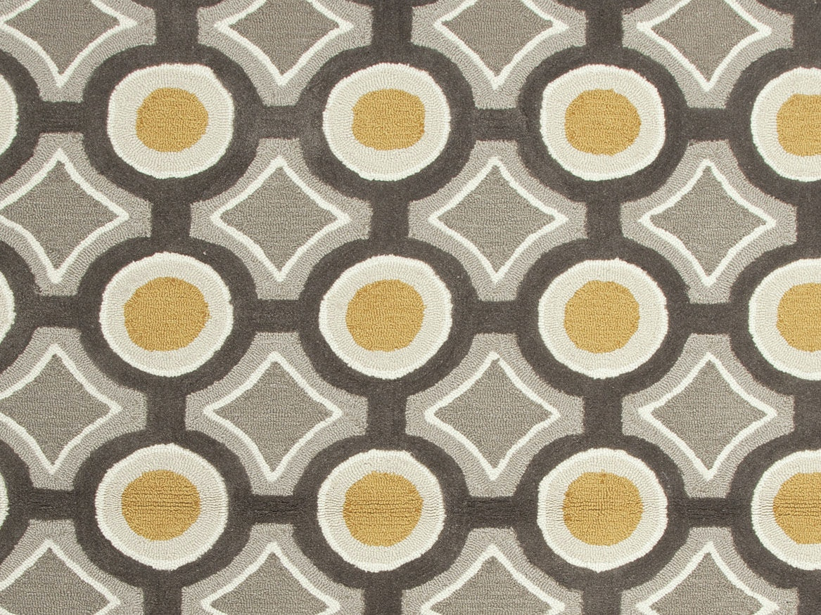 jaipur rugs handtufted geometric pattern polyester grayyellow area rug br31