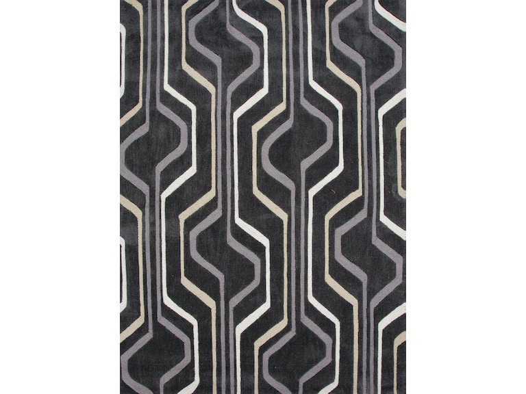 Jaipur Rugs Hand Tufted Geometric Pattern Polyester Black Ivory Area Rug Br42