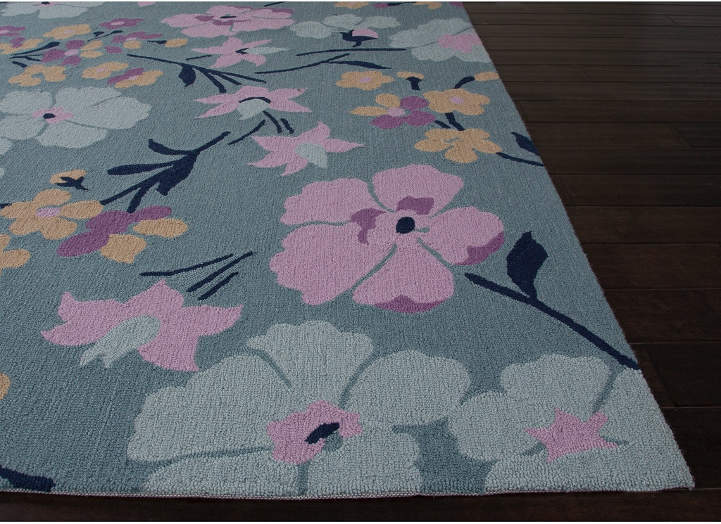 Jaipur Rugs Floor Coverings Jaipur Hand Tufted Floral Pattern Blue