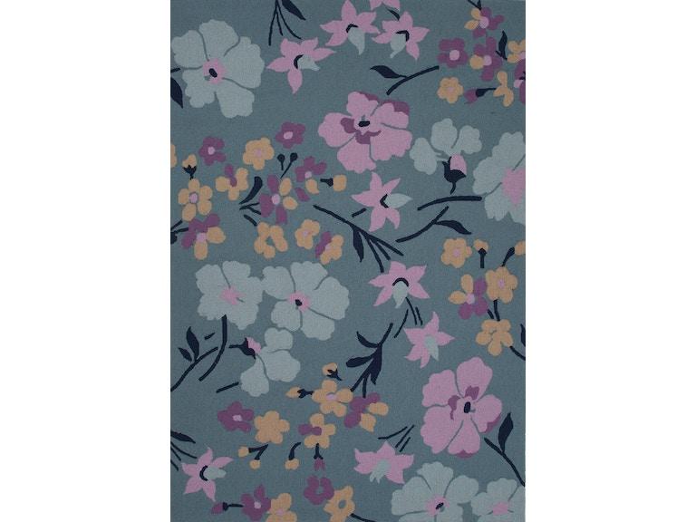 Jaipur Rugs Floor Coverings Jaipur Hand Tufted Floral Pattern Blue Purple Polyester 2x3 Area Rug