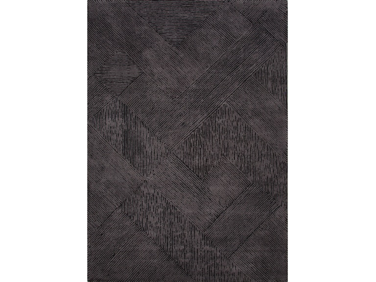 Jaipur Rugs Hand Tufted Solid Pattern Black Wool Area Rug Bri02