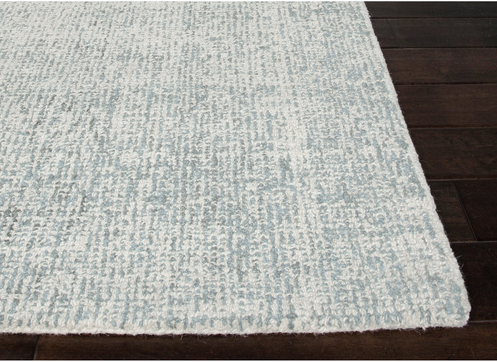 Jaipur Rugs Hand Tufted Solid Pattern Ivory White Blue Wool 8x10