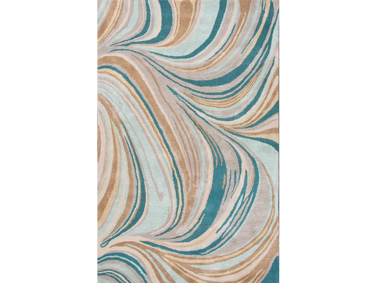 Jaipur Rugs Hand Tufted Soft Wool Art Silk Blue Tan Area Rug