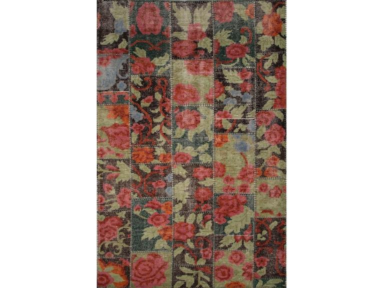 Jaipur Rugs Floor Coverings Jaipur Hand Knotted Floral Pattern Black Red Wool 5x8 Area Rug