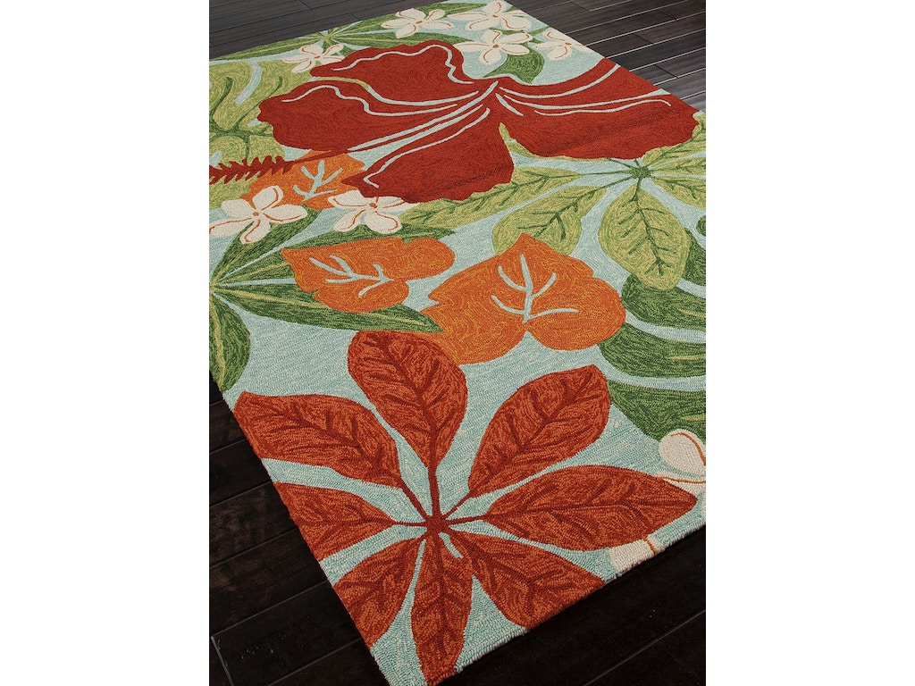 Jaipur rugs floor coverings indoor outdoor floral pattern for Red floral area rug